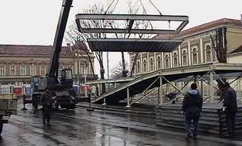 Dismantling of Rajiceva Ulica, Belgrade, Serbia